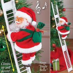 Santa Claus Climbing Ladder Electric Santa Claus Doll Christmas Toys New Year Xmas Gift Tree Decoration Christmas Figurines, Christmas Toys, Best Christmas Gifts, Christmas Sale, Merry Christmas, Christmas Music, Funny Christmas, Xmas Tree, Christmas Tree Decorations