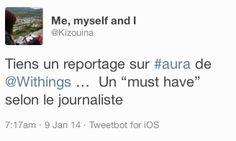 """Me, myself and I (twitter.com/Kizouina) a tweeté : """" Tiens un reportage sur #aura de Withings …  Un """"must have"""" selon le journaliste """" En savoir plus : http://www.withings.com/en/aura"""