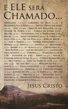 Ministério Vivo Deus Vivo: OS NOMES DE DEUS God Jesus, Jesus Christ, Bibel Journal, Jesus Freak, Prayer Book, Jesus Loves Me, God Is Good, Gods Love, Cool Words