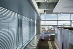 The LEED Gold-rated EPA Region 8 HQ reinforces its message of resource conservation. Our H2 Model (motorized and manual) and Vertical Blinds were used. 300 blinds are motorized with sun-tracking controls set by celestial clock and tilt the blinds automatically 3 times a day to control glare and heat.