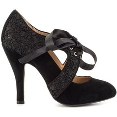Mojo Moxy Women's Prissy - Black ($67) ❤ liked on Polyvore featuring shoes,