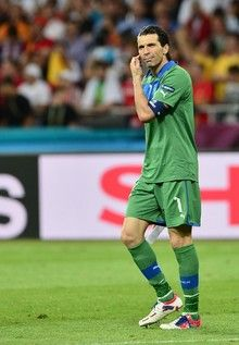 Italian goalkeeper Gianluigi Buffon is seen after the Euro 2012 football championships final match Spain vs Italy on July 1, 2012 at the Olympic Stadium in Kiev.