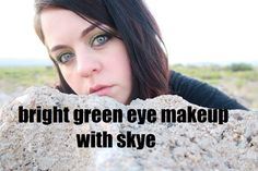 EASY BRIGHT GREEN EYE MAKEUP | GET READY WITH ME