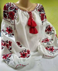 Wonderful Embroidered blouse - flowered embroidery - linen shirt for women  - ukrainian vyshyvanka - ece0a7ff7333b