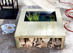 www.karwei.nl Wat een leuk idee! Een vijver, bank en opslag in 1, neemt ook nog eens weinig ruimte in beslag!