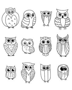 Cartoon owls and owlets - animals characters owl crafts, doodle art, bird doodle, Doodles, Owl Crafts, Owl Patterns, Pebble Art, Stone Art, Stone Painting, Pebble Painting, Rock Painting, Doodle Art