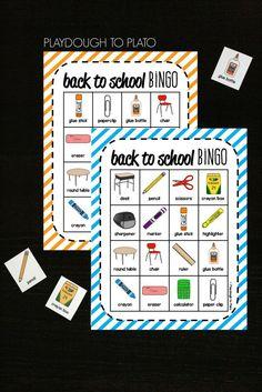 Back to School Bingo! Fun freebie for the first days of school in preschool, kindergarten or first grade.