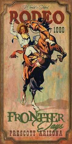 Retro Vintage Bar Metal Tin Signs Frontter Prescott Arizona,Metal Sign Tin Plaque Aluminum Wall for Garage Man Cave Cafe Bar Pub Club Caffee Patio Home Decoration Films Western, Western Art, Western Theme, Vintage Posters, Vintage Art, Vintage Cowgirl, Vintage Western Decor, Looks Country, Cowboy Art