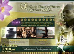 Qi Qong weekly classes $10 Energy Fitness, Chiropractic, Workshop, Mindfulness, Spirit, Healing, Peace, Atelier, Work Shop Garage