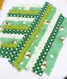 This zip pouch is made with scraps sewn together to form panels.