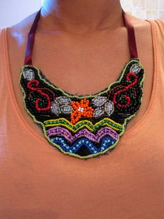 DIY: Beaded Bib Necklace | Random chic musings.