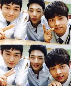 "Selfie of Lee Won Geun, Ji Soo and N - castmates from Kdrama, ""Sassy Go Go"" Lee Won Geun, Ji Soo Actor, Up Cast, Jun Matsumoto, Sassy Go Go, Hong Ki, N Vixx, Song Joong, Moorim School"