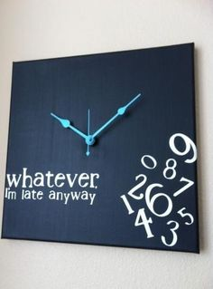 I think I could DIY this clock.... no tutorial, just inspiration pin...