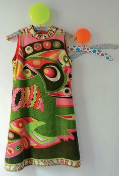 Vintage clothes 1960 emilio pucci 45 ideas for 2019 60s And 70s Fashion, Mod Fashion, Colorful Fashion, Vintage Fashion, Club Fashion, Emilio Pucci, Vintage Dresses, Vintage Outfits, 1950s Dresses