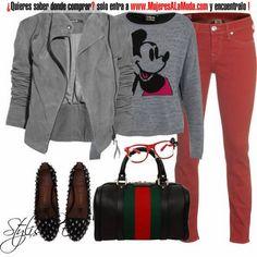 Combinaciones con gris y rojo