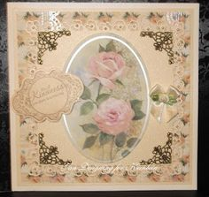 Loves to craft. Kanban Floral Bloom paper craft collection - foiled & die cut toppers with co-ordinating card.