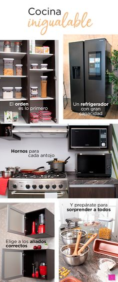 El orden es lo más importante a la hora de hacer que tu cocina sea el centro de atención de todas las miradas. Wall Oven, Liverpool, Kitchen Appliances, Home Decorations, Furniture, Ovens, Room, Kitchens, Gardens