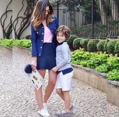 Jeans, azul marinho e rosa bebê