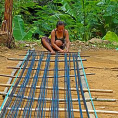 The Baduy women weave their main clothes to fulfill their needs of clothes