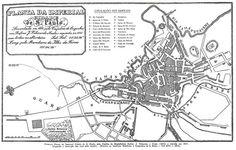 Planta da cidade de São Paulo, elaborada inicialmente em 1810 e redesenhada com alterações em 1841.
