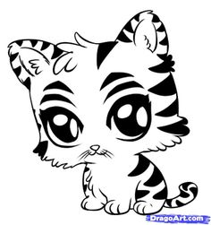 Step 6. How to Draw a Cute Tiger