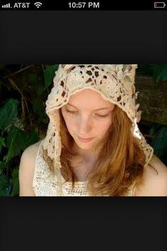 Lovely crocheted hood