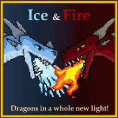 Ice and Fire: Dragons in a whole new light! Pet Dragon, Fire Dragon, Fire And Ice Dragons, Minecraft Modpacks, Minecraft Wallpaper, Hama Beads Design, Crochet, Minecraft Construction, Minecraft Projects