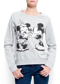 MANGO - CLOTHING - New Autumn Collection - Cardigans and sweaters - Disney sweatshirt