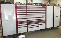 Tool Box Storage, Garage Tool Organization, Garage Tools, Custom Tool Boxes, Dream Auto, Toolbox Ideas, Garage Design, The Body Shop, Man Cave