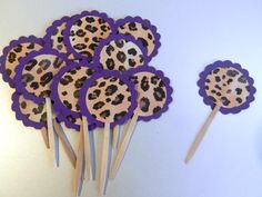 30 Best Purple Leopard Baby Shower Images Cupcake Holders
