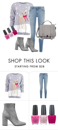 """""""Untitled #2"""" by admirtheadmir ❤ liked on Polyvore featuring Boohoo, Givenchy, Gianvito Rossi and OPI"""