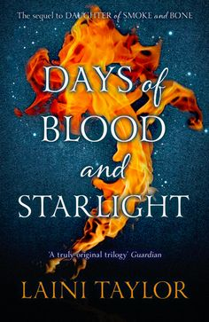 UK (animated) Cover Reveal: Days of Blood and Starlight (Daughter of Smoke and Bone #2) by Laini Taylor. Coming 11/8/12