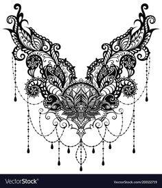Ornamental lotus flower vector image on VectorStock Tribal Tattoos, Body Art Tattoos, Hand Tattoos, Sleeve Tattoos, Celtic Tattoos, Tattoos Skull, Stomach Tattoos Women, Belly Tattoos, Lace Tattoo Design