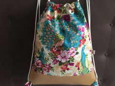 Buy Now- Turnbeutel / Rucksack Peacocks & Flowers - ein Designerstück von Madamme-Julie bei DaWanda Drawstring Backpack, Backpacks, Etsy, Store, Bags, Fashion, Gym Bag, Gymnastics, Handbags