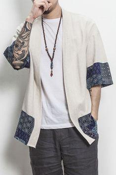 Kimono Traditional Shirt – GaGodeal Source by gagodeal masculino Kimono Outfit, Kimono Fashion, Pantalon Thai, Japan Fashion, Mens Fashion, Mode Kimono, Mexican Outfit, Kimono Pattern, Streetwear Fashion