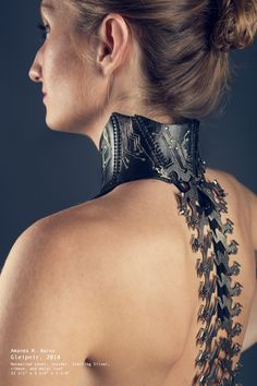 Neck Corset Necklace made from leather and a junk typewriter - Album on Imgur