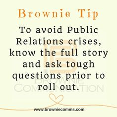 Avoid PR Crises