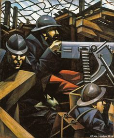 'Christopher Richard Wynne Nevinson' La Mitrailleuse 1915 this is futurists which is a technique to help express the reality of war in his new work. this was also around the first world war. World War One, First World, John Heartfield, Ww1 Art, John Everett Millais, Tate Gallery, National Portrait Gallery, Art Uk, Art Moderne