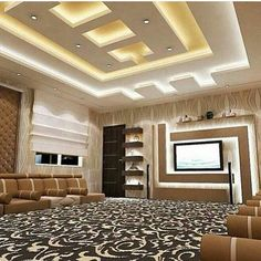latest pop false ceiling designs pop wall designs for hall Simple False Ceiling Design, Gypsum Ceiling Design, House Ceiling Design, Ceiling Design Living Room, Bedroom False Ceiling Design, Hotel Room Design, Home Ceiling, Ceiling Decor, Ceiling Ideas