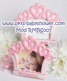 Recuerdos para Baby Shower - Portaretrato Tiara Princesa Rosa - Disponible en www.pkts-babyshower.com