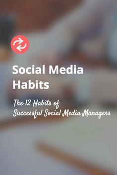 The 12 essential habits of great social media managers. https://blog.bufferapp.com/hire-social-media-manager?utm_content=buffer5ecf2&utm_medium=social&utm_source=pinterest.com&utm_campaign=buffer