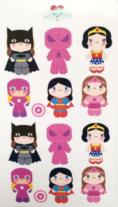 Super Girls Stickers for your planner or just by VintageGypsyRoad