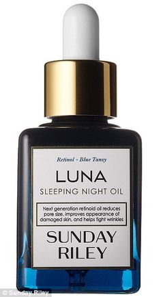 Holy Grail: Sunday Riley's new £85 Luna Night Oil contains Retinol and Blue Tansy flower e...