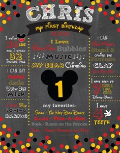 Celebrate your child's milestones and make their birthday special with this Chalkboard. The design is available in two different sizes – either 11x14 or 16x20. ========================================================&...