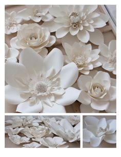 Large paper flowers - set of 12 - various size