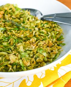 Side Dish Recipe:  Smoky, Lemony Shredded Brussels Sprouts   Recipes from The Kitchn