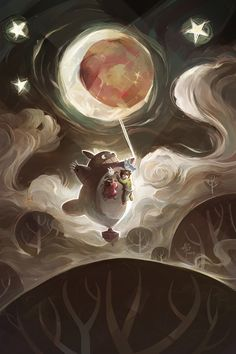 Studio Ghibli Fan Art - Created by Ellie YongYou can also follow this artist on…
