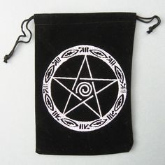 Embroidered Pentacle Tarot Bag