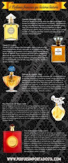 5 perfumes franceses que hicieron historia. #perfumes #infografia