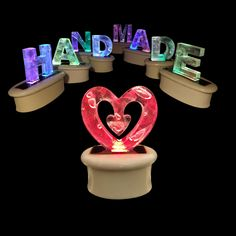 Colour Change Letter Sculpture - USB or Mains #led #sculpture #personalised